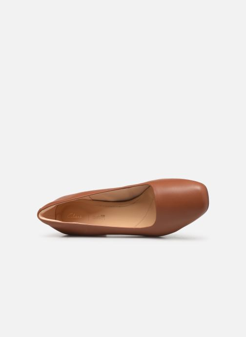 Escarpins Clarks Sheer Rose Marron vue gauche
