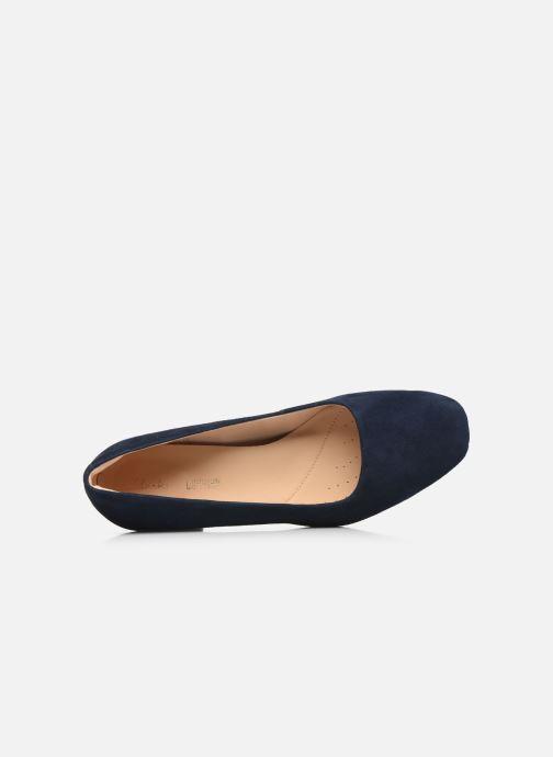 Zapatos de tacón Clarks Sheer Rose Azul vista lateral izquierda
