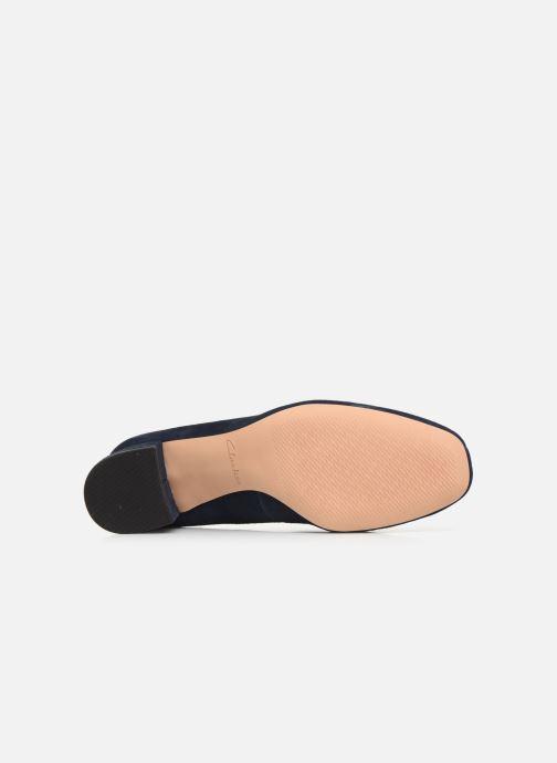 Zapatos de tacón Clarks Sheer Rose Azul vista de arriba