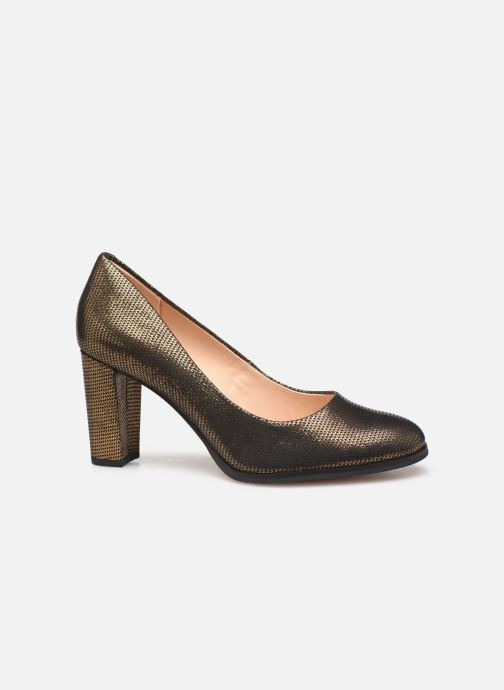 Zapatos de tacón Clarks Kaylin Cara Oro y bronce vistra trasera