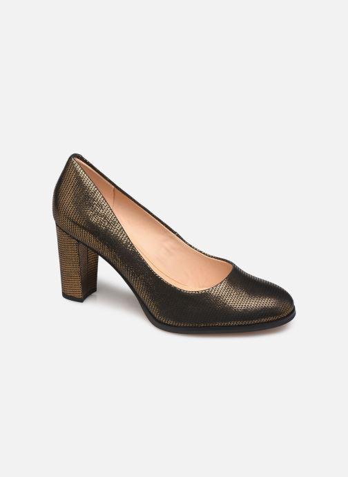 Zapatos de tacón Clarks Kaylin Cara Oro y bronce vista de detalle / par