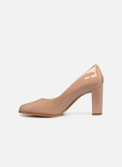 Zapatos de tacón Clarks Kaylin Cara Rosa vista de frente