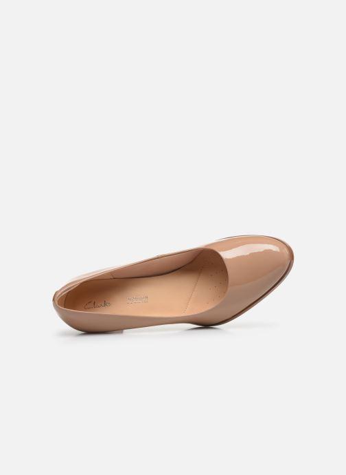 Zapatos de tacón Clarks Kaylin Cara Rosa vista lateral izquierda