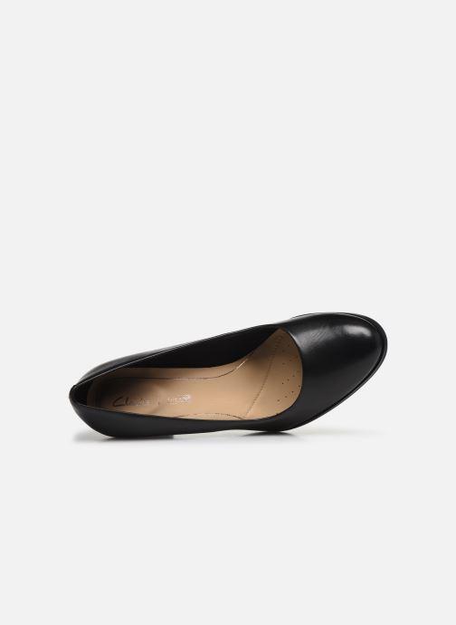 Zapatos de tacón Clarks Kaylin Cara Negro vista lateral izquierda