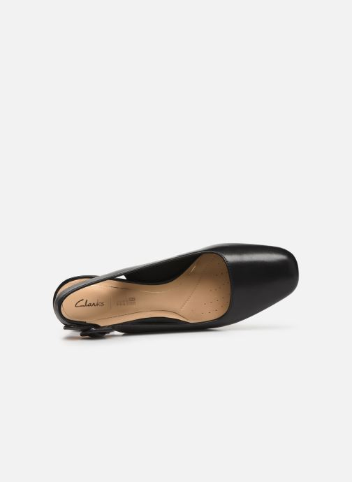 High heels Clarks Sheer Violet Black view from the left