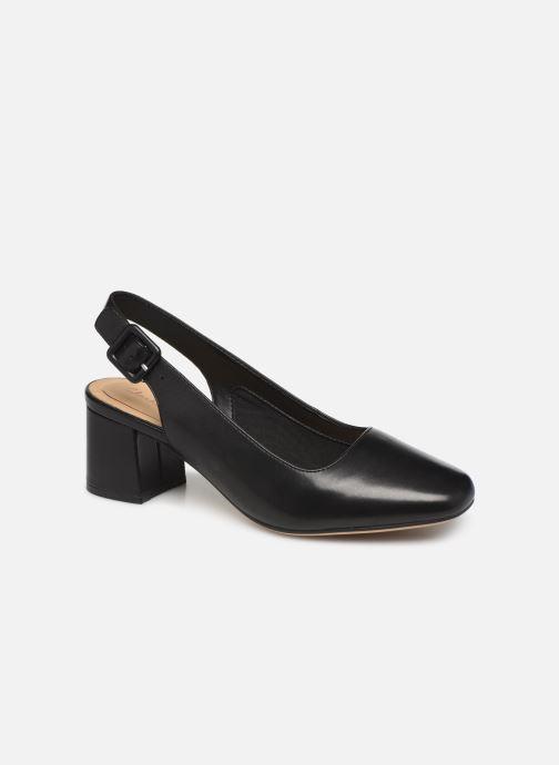 High heels Clarks Sheer Violet Black detailed view/ Pair view
