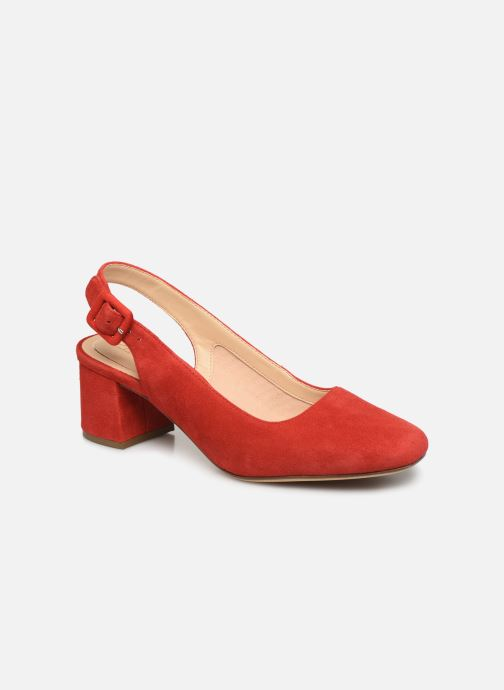 Escarpins Clarks Sheer Violet Rouge vue détail/paire