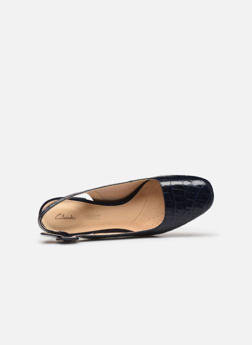 Zapatos de tacón Clarks Sheer Violet Azul vista lateral izquierda