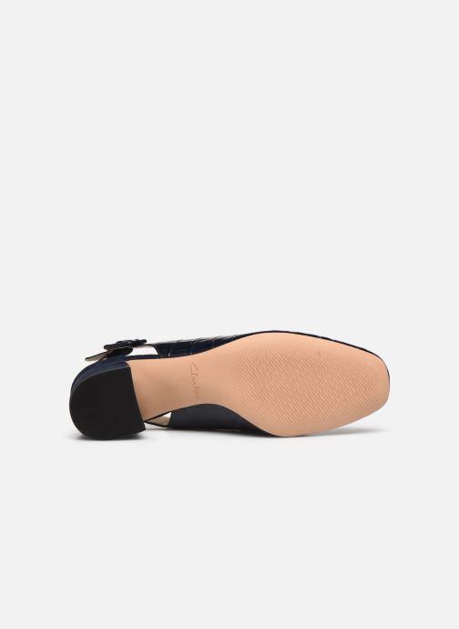 Zapatos de tacón Clarks Sheer Violet Azul vista de arriba