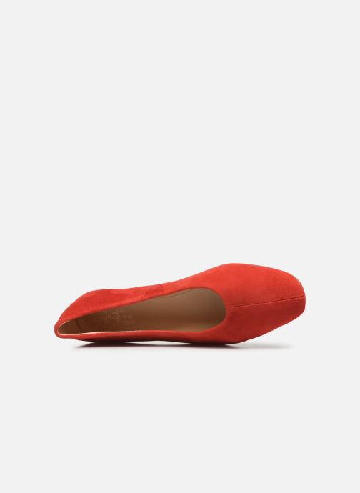 Ballet pumps Clarks Chia Violet Red view from the left