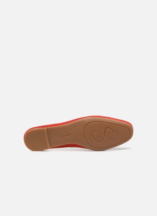 Ballet pumps Clarks Chia Violet Red view from above