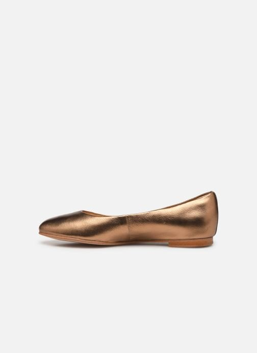 Ballerines Clarks Grace Piper Or et bronze vue face