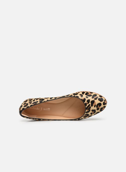 Ballet pumps Clarks Grace Piper Brown view from the left