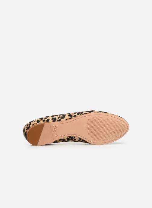 Ballet pumps Clarks Grace Piper Brown view from above