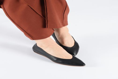 Ballet pumps Clarks Sense Lula Bronze and Gold view from underneath / model view