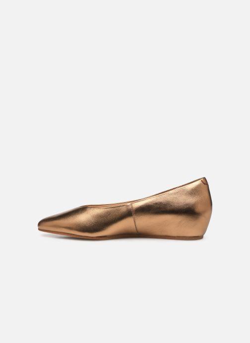 Ballet pumps Clarks Sense Lula Bronze and Gold front view
