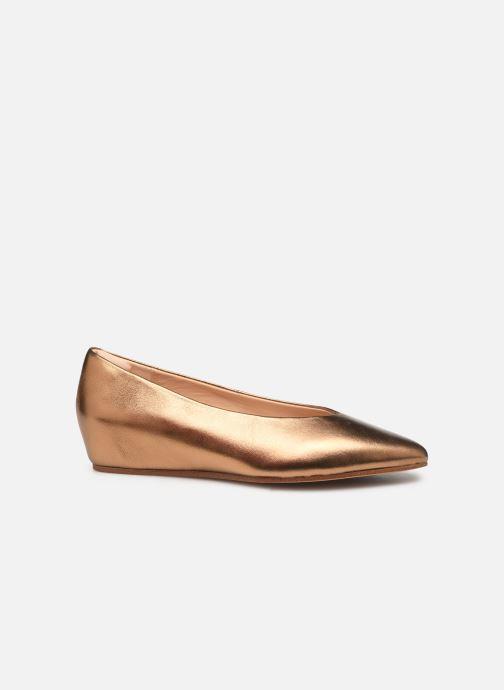 Ballet pumps Clarks Sense Lula Bronze and Gold back view