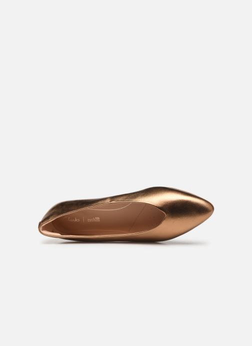 Ballet pumps Clarks Sense Lula Bronze and Gold view from the left