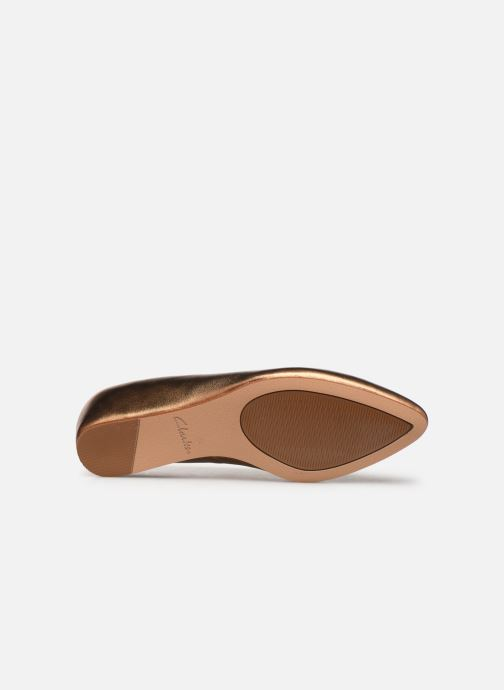 Ballet pumps Clarks Sense Lula Bronze and Gold view from above