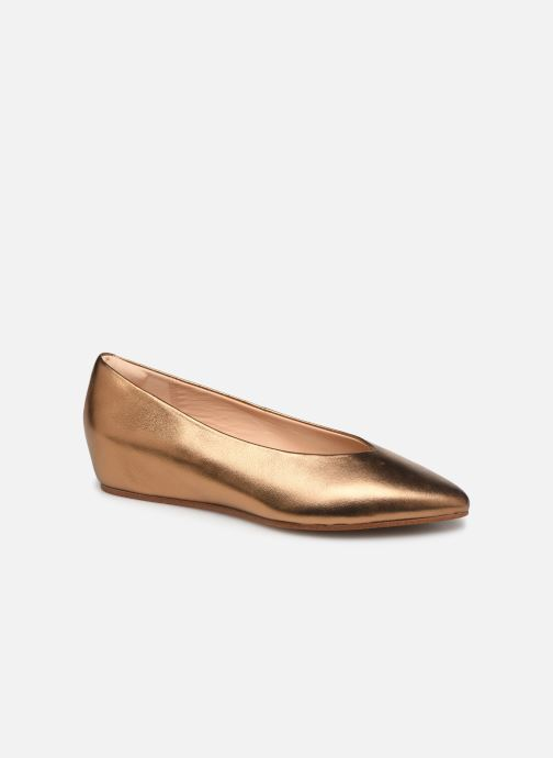 Ballet pumps Clarks Sense Lula Bronze and Gold detailed view/ Pair view