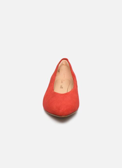 Ballerines Clarks Sense Lula Rouge vue portées chaussures