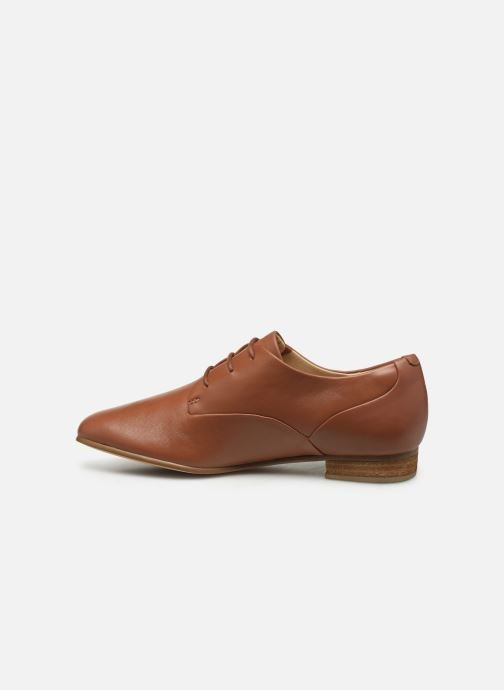 Lace-up shoes Clarks Pure Mist Brown front view