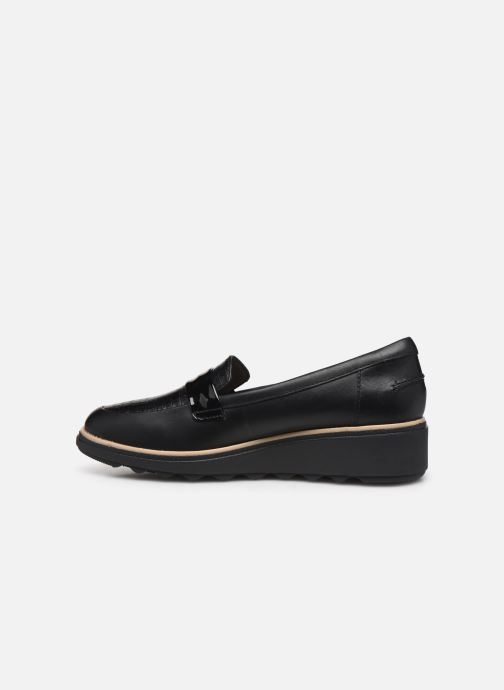 Mocassins Clarks Sharon Gracie Noir vue face