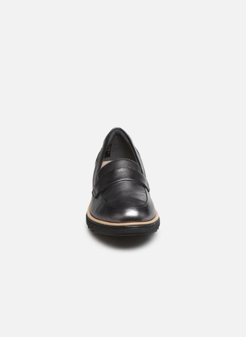 Mocassins Clarks Sharon Gracie Argent vue portées chaussures