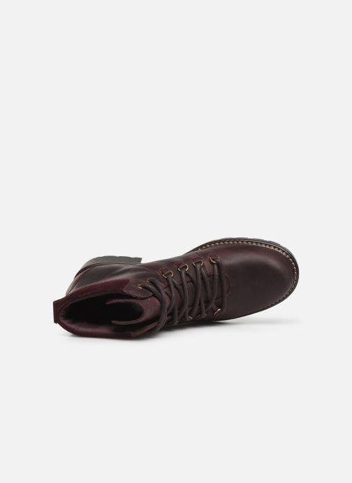 Bottines et boots Clarks Orinoco Demi Bordeaux vue gauche