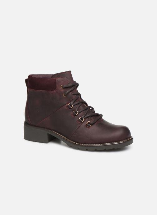 Bottines et boots Clarks Orinoco Demi Bordeaux vue détail/paire
