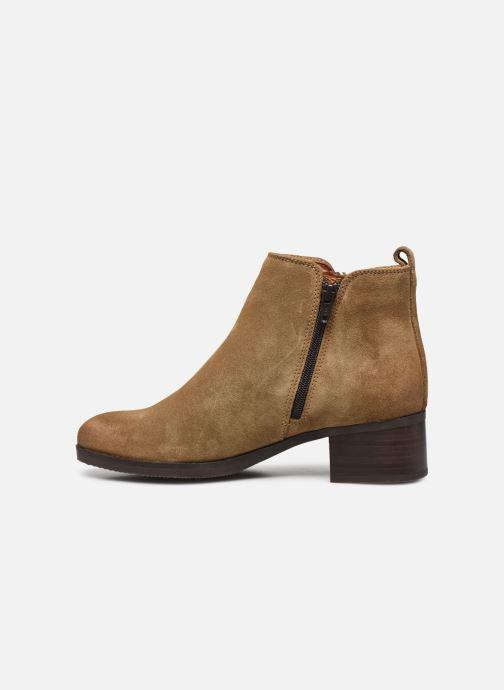 Bottines et boots Clarks Mila Sky Beige vue face