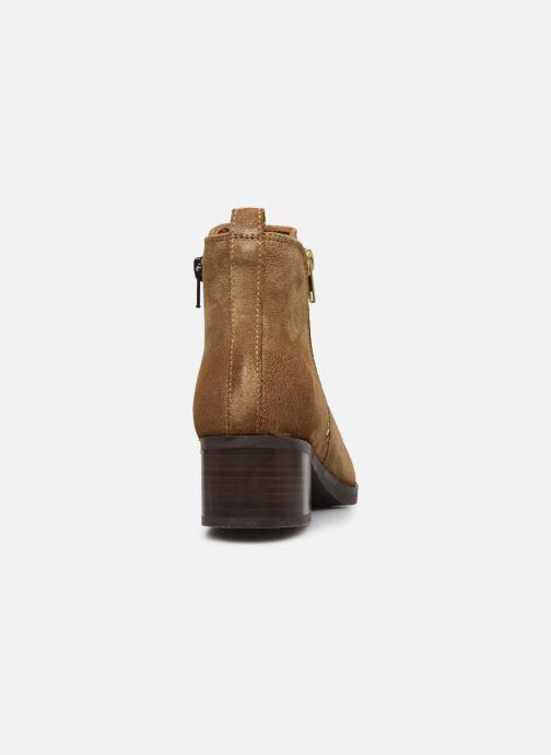 Bottines et boots Clarks Mila Sky Beige vue droite
