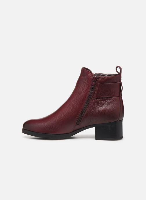 Bottines et boots Clarks Mila Charm Bordeaux vue face