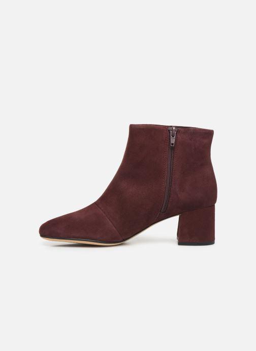 Bottines et boots Clarks Sheer Flora Bordeaux vue face