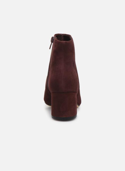 Bottines et boots Clarks Sheer Flora Bordeaux vue droite