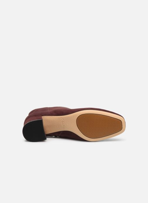 Bottines et boots Clarks Sheer Flora Bordeaux vue haut