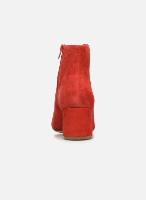 Ankle boots Clarks Sheer Flora Red view from the right
