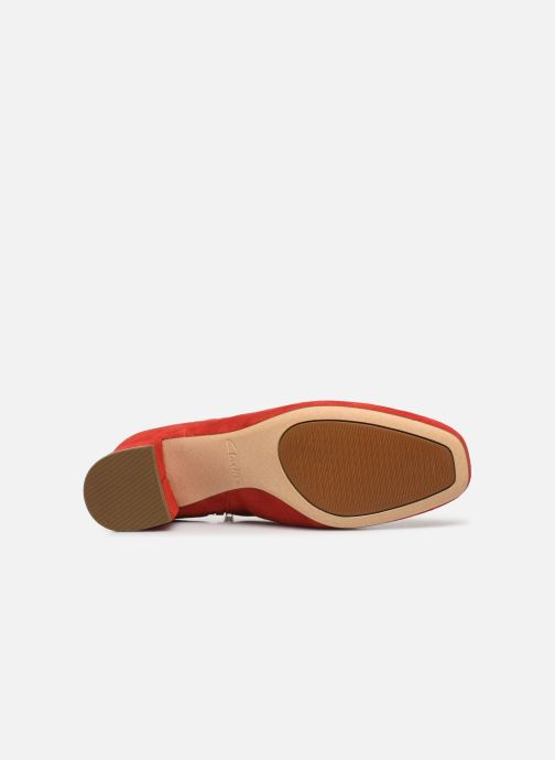 Ankle boots Clarks Sheer Flora Red view from above