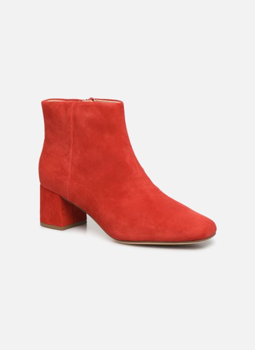 Ankle boots Clarks Sheer Flora Red detailed view/ Pair view
