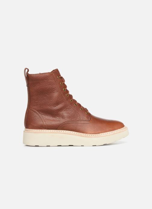 Ankle boots Clarks Trace Pine Brown back view