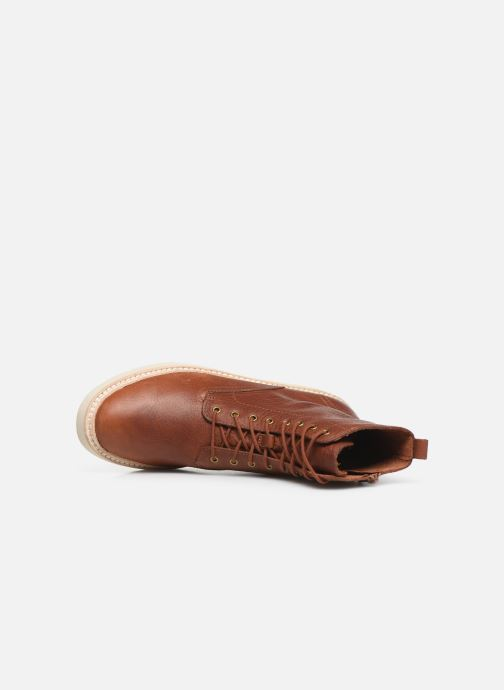 Ankle boots Clarks Trace Pine Brown view from the left