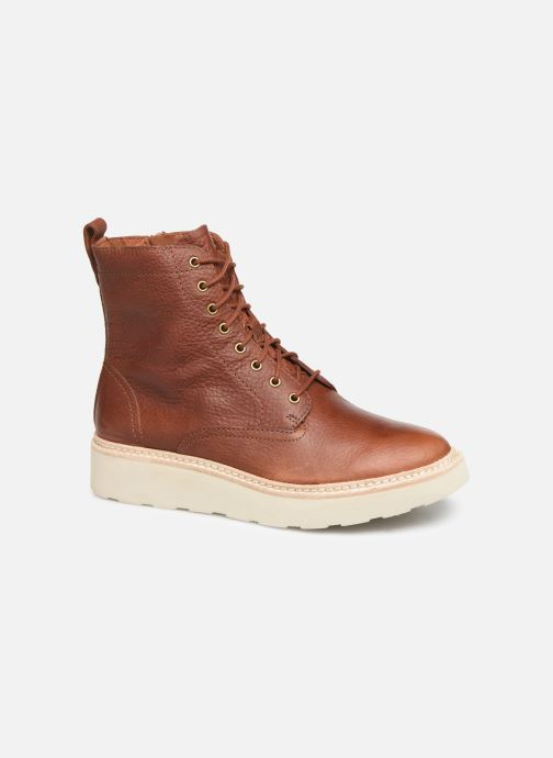 Ankle boots Clarks Trace Pine Brown detailed view/ Pair view