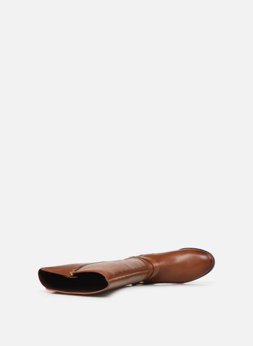 Stiefel Clarks Netley Whirl braun ansicht von links