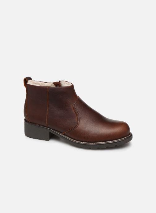 Bottines et boots Clarks Orinoco Snug Marron vue détail/paire