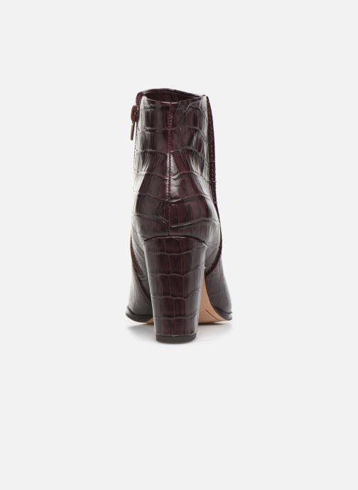 Bottines et boots Clarks Kaylin Fern Bordeaux vue droite