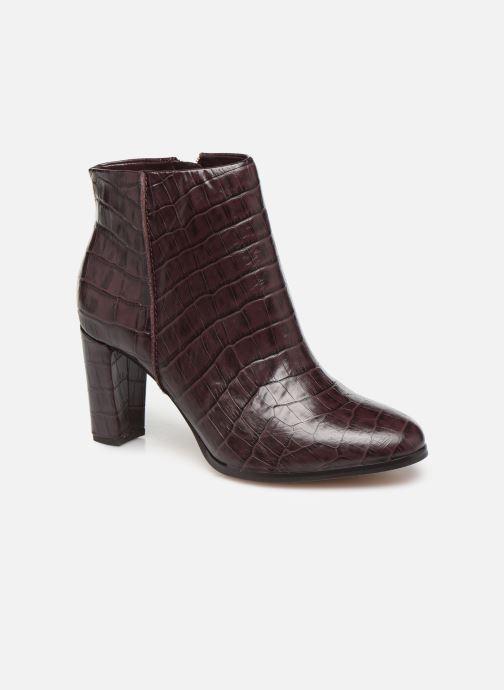 Ankelstøvler Clarks Kaylin Fern Bordeaux detaljeret billede af skoene