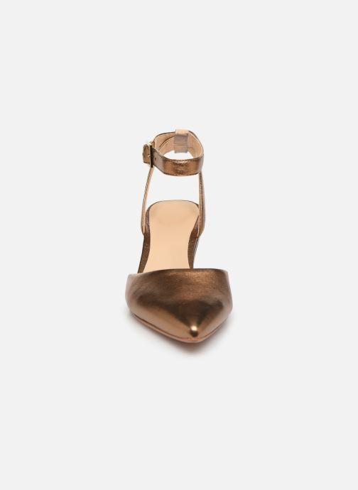 Escarpins Clarks Ellis Glam Or et bronze vue portées chaussures
