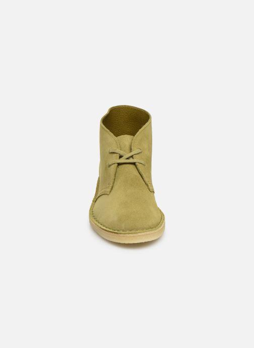 Ankelstøvler Clarks Originals Desert Boot. Grøn se skoene på