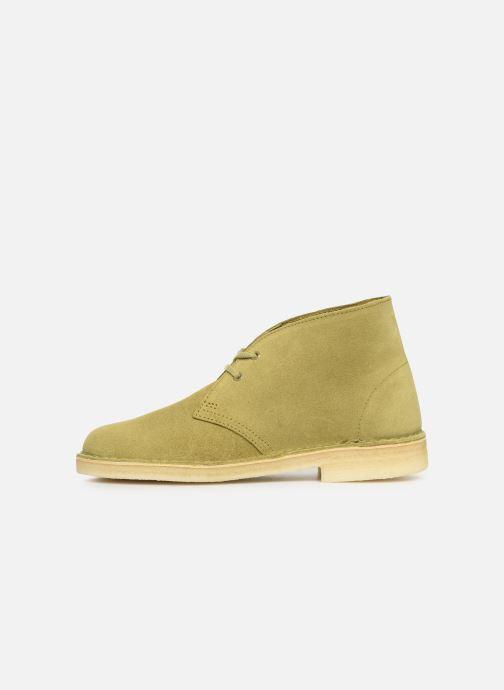 Bottines et boots Clarks Originals Desert Boot. Vert vue face