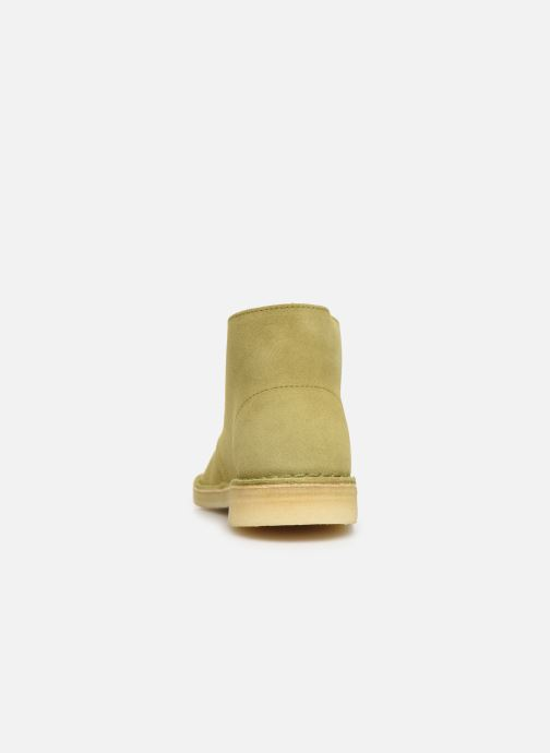 Botines  Clarks Originals Desert Boot. Verde vista lateral derecha